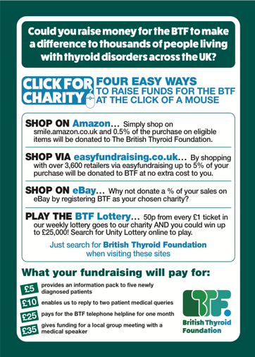 Fundraising Ideas British Thyroid Foundation