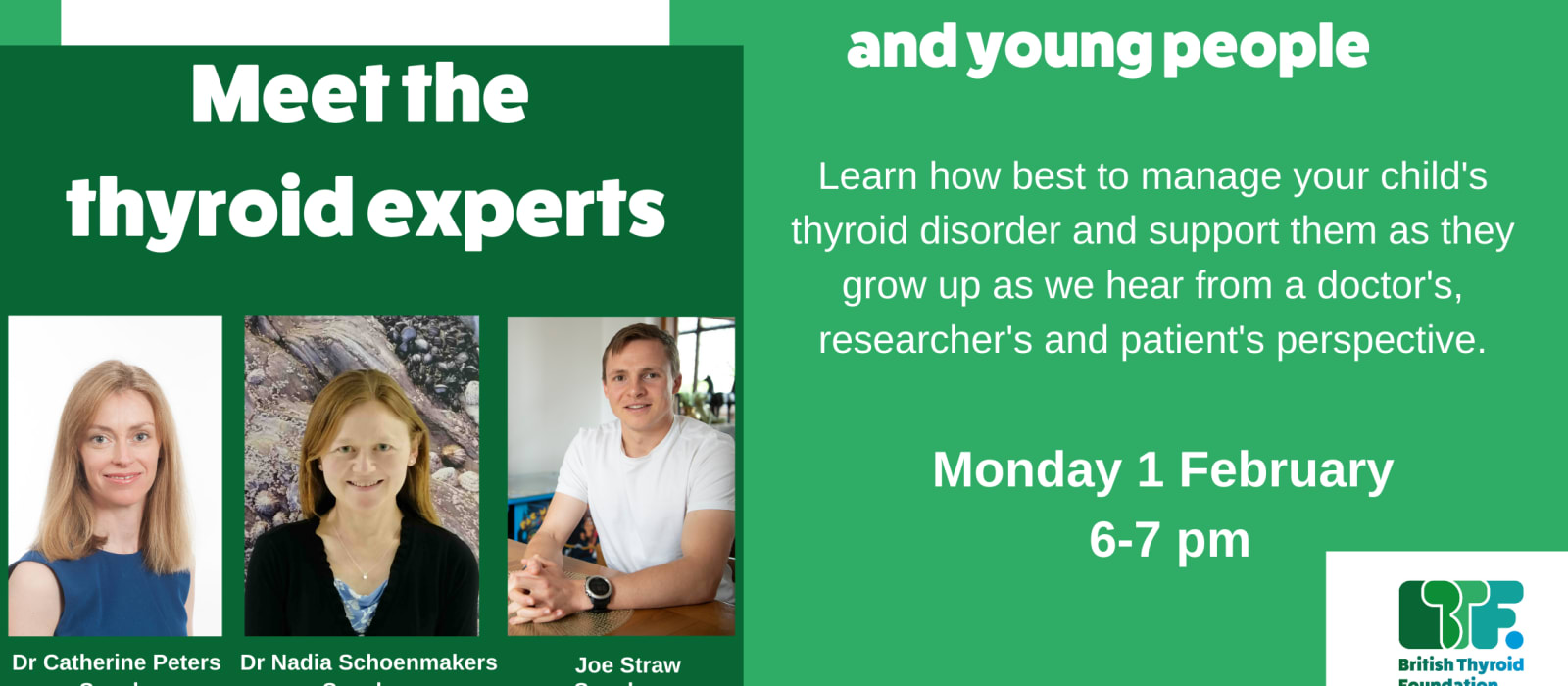 Meet the experts: supporting your child with a thyroid disorder
