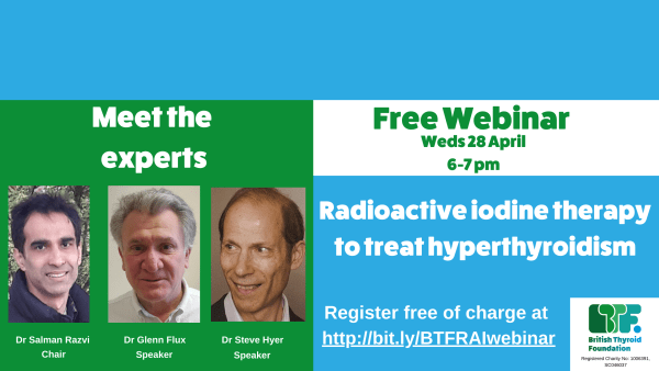 'Meet the experts' webinar on RAI to treat hyperthyroidism