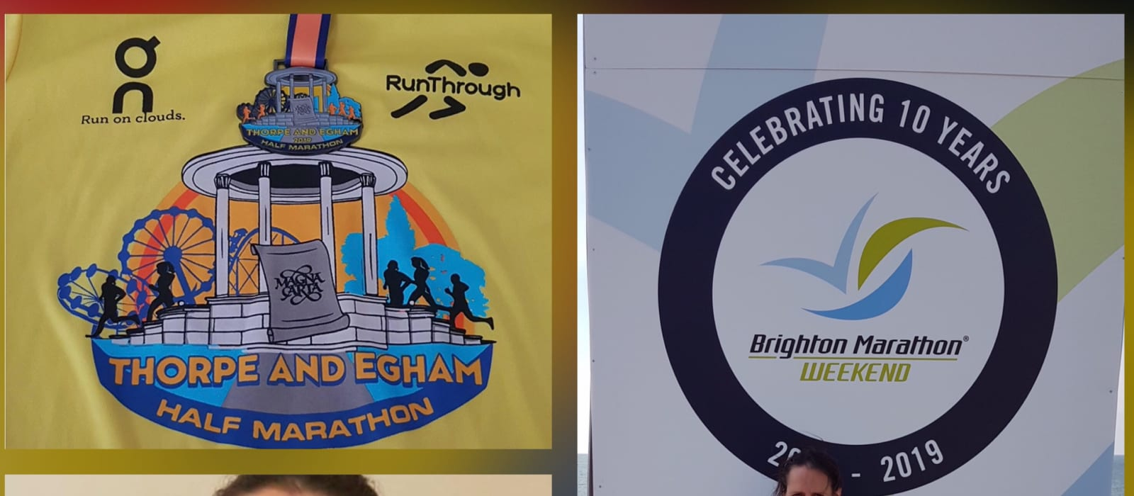 Terri Ballard-Vass - Egham and Thorpe Park Half Marathon and Brighton 10k