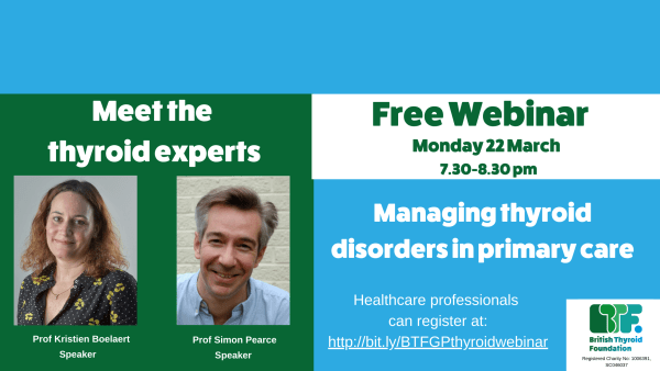 Meet the thyroid experts free webinar for GPs